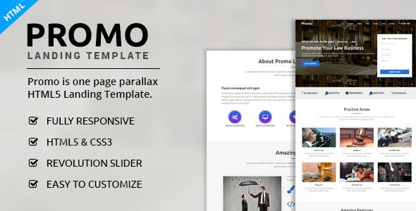 Promo - Multipurpose Landing Page            TFx