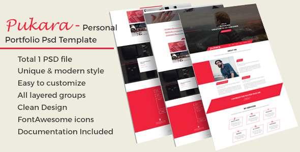 Pukara Personal Portfolio PSD Template            TFx