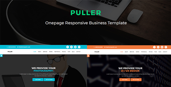 Puller - Onepage Responsive Business Template            TFx