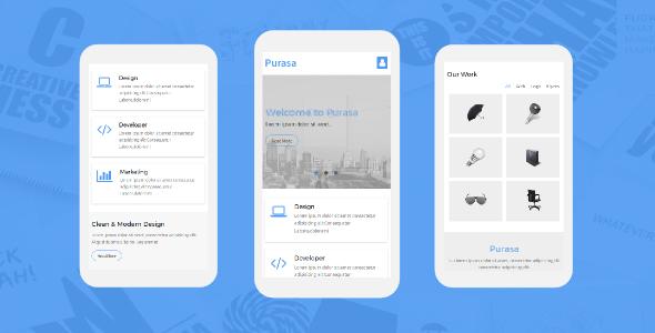 Purasa – Responsive Mobile Template            TFx