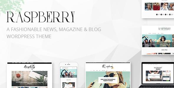 Raspberry: A Fashionable News, Magazine & Blog WordPress Theme            TFx