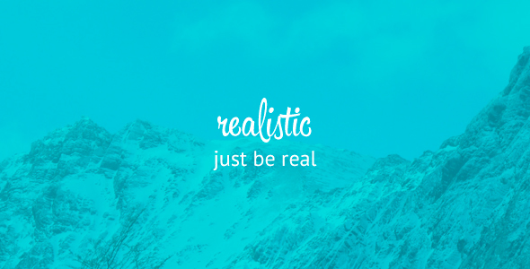 Realistic - Simple and Clean blog template            TFx