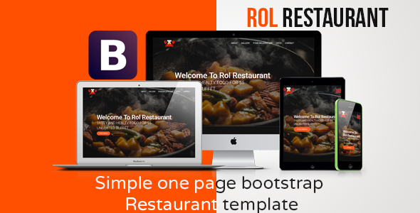 Rol Restaurant - One page Bootstrap Theme            TFx