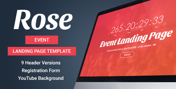 Rose – Event Landing Page Template            TFx