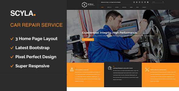 Scyla || Auto Mechanic & Car Repair WordPress Theme            TFx