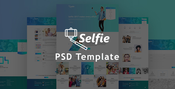 Selfy Photography PSD Template            TFx