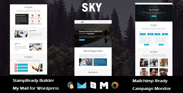 Sky - Multipurpose Responsive Email Template with Stampready Builder Access            TFx