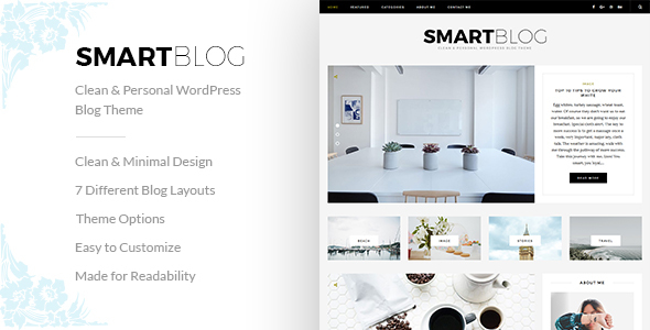 SmartBlog – Clean & Personal WordPress Blog Theme.            TFx Cy Cole