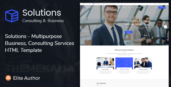 Solutions - Multipurpose Business, Consulting Services HTML Template            TFx