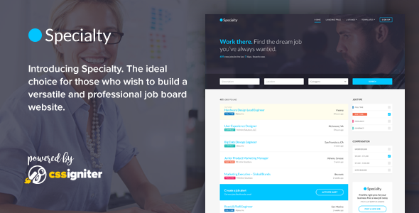 Specialty - Job board HTML template            TFx