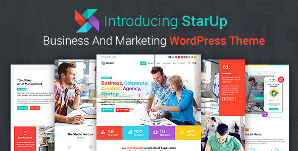 StarUp - Business And Marketing WordPress Theme            TFx