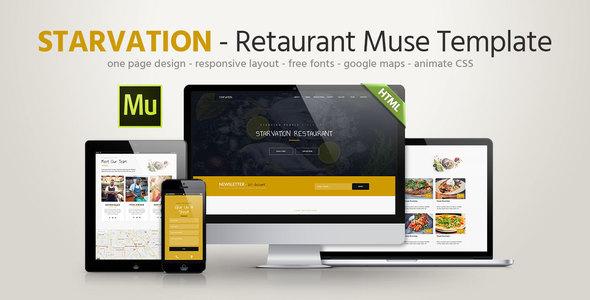 Starvation - Restaurant Responsive Muse Template            TFx Kiaran Jae