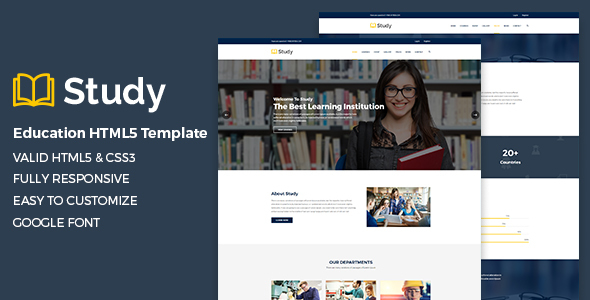 Study – Education HTML5 Template            TFx