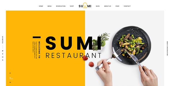 Sumi Restaurant HTML Template            TFx Wilmer Benji