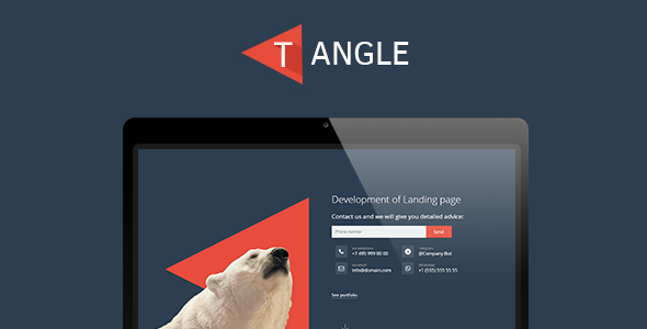 T-Angle - landing page template            TFx Galen Michi