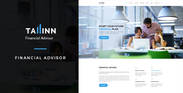 Tallinn Financial Advisor - Business and Consultancy HTML Template            TFx