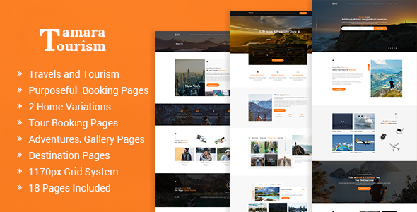 Tamara - Travel Agency and Tourism PSD Template            TFx Tatton Chad