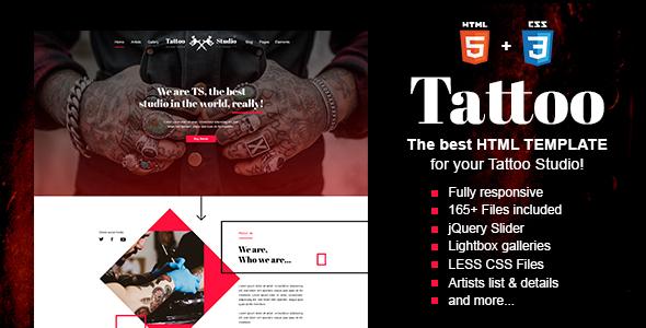 Tattoo – Tattoo Studio HTML Template            TFx Ladislaus Tamerlane