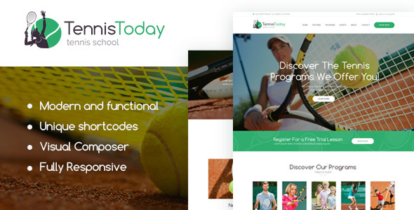Tennis Today | Sport School & Events Theme            TFx