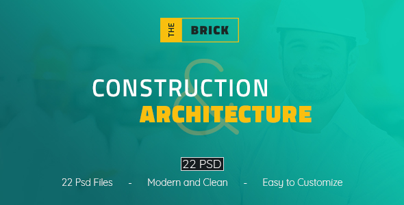The Brick - Construction and Architecture PSD Template            TFx