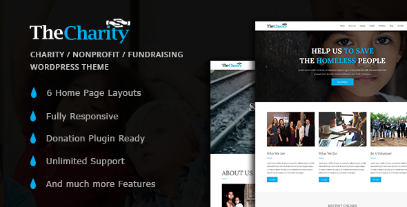 The Charity – Charity / Nonprofit / Fundraising WordPress Theme            TFx Dewayne Inigo