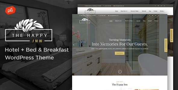 The Happy Inn - Hotel + Bed & Breakfast Theme            TFx