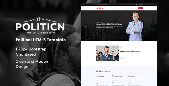 The Politicn – Political HTML Template            TFx