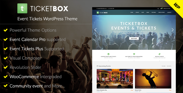 TicketBox – Event Tickets WordPress Theme            TFx