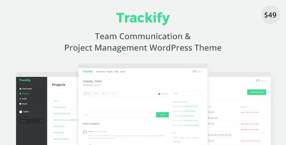 Trackify - Project Management WordPress Theme            TFx Gideon Buddy