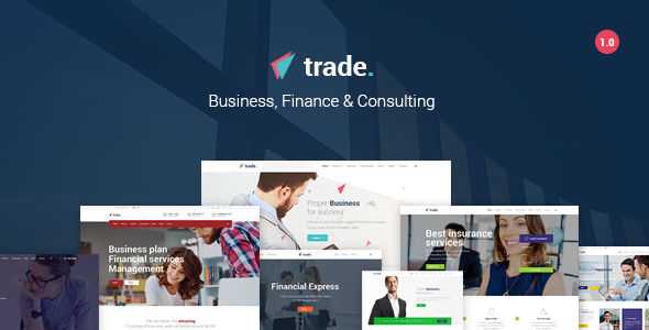 Trade - Business and Finance WordPress Theme            TFx