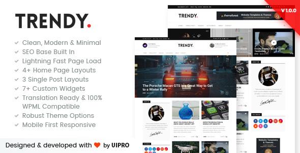 Trendy Pro - Premium Personal Blog WordPress Theme            TFx
