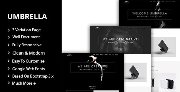Umbrella - One Page Personal Portfolio Template            TFx