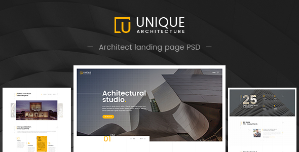 Unique - Architecture & Interior PSD Template            TFx Kiefer Arlo