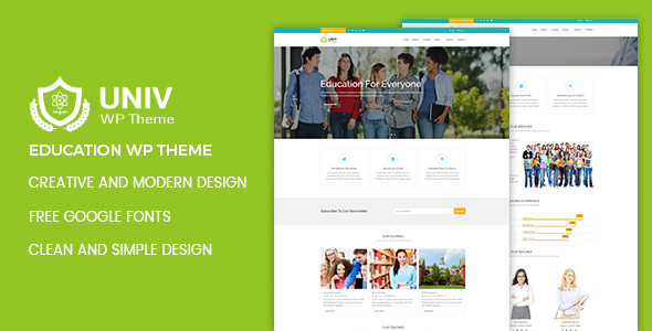 Univ – Education WordPress Theme            TFx