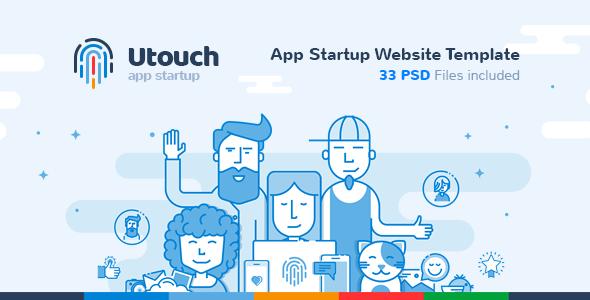 Utouch - App Startup Website PSD Template            TFx