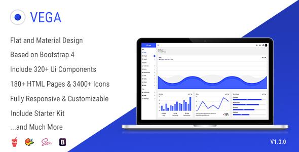 Vega - Responsive Admin Dashboard Template            TFx Lee Osbert