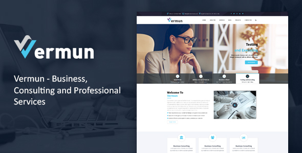 Vermun | Consulting, Business, Finance Template            TFx