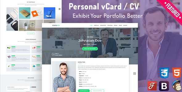WP-Card | Personal vCard & CV Resume Template            TFx