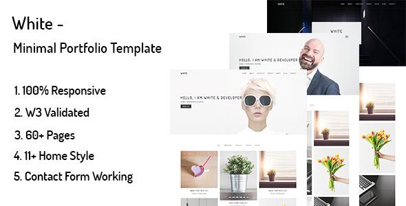 White – Minimal Portfolio Template            TFx