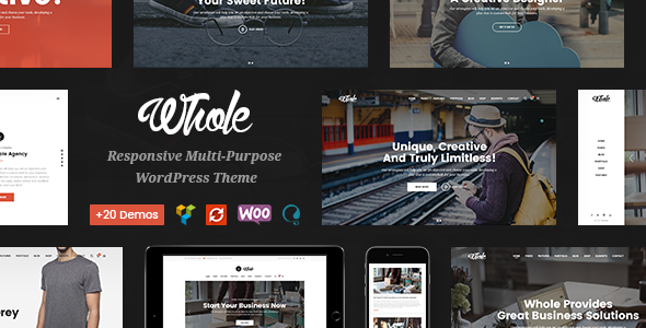 Whole - Creative Multi-Purpose WordPress Theme            TFx
