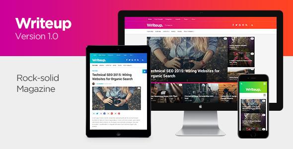 Writeup - Responsive WordPress Magazine Theme            TFx