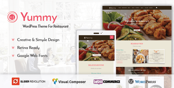 Yummy - Restaurant & Food Ordering WordPress Theme            TFx