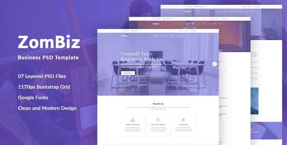 ZomBiz Business PSD Template            TFx