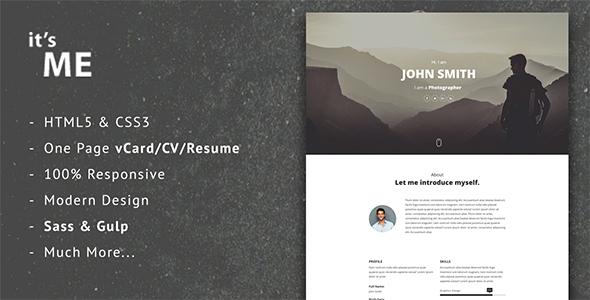 it'sMe - Responsive Vcard/CV/Resume Template            TFx