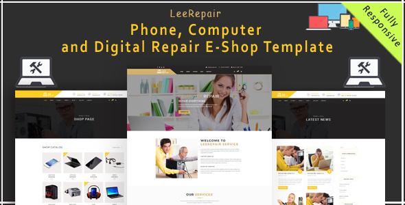 leeRepair - Mobile, Computer, Electronic and Digital Repair E-Shop HTML5 Template            TFx