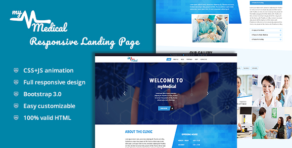myMedical – Health & Doctor Landing Page HTML Template            TFx