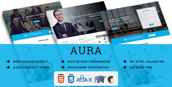 AURA - Multipurpose Responsive HTML Landing Pages TFx Goro Sheard
