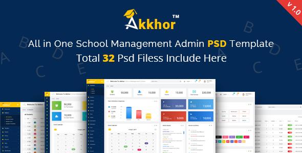 Admin - Akkhor School Management System PSD            TFx Merrick Shaquille