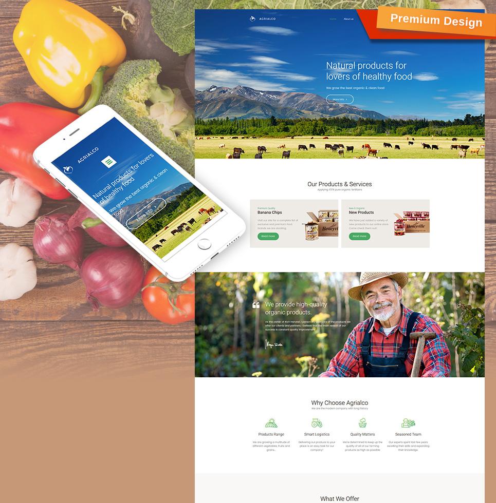 Agrialco – Premium Moto CMS 3 Template TMT Taniel Benedict