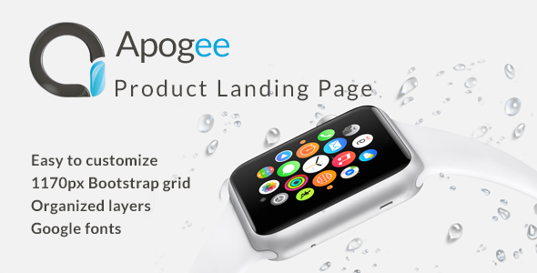 Apogee - Product Landing Page TFx PSDTemplates Larrie Clive